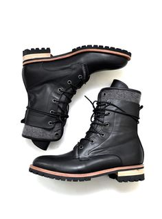 Shoes :: Double Contrast Layer High Boots-Shoes 354 - Mens Fashion Clothing For An Attractive Guy Look