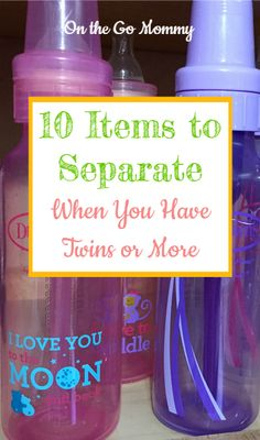 What items do you need to separate for twins? Life is different when you have 2 babies (or more) at the same time. They need twice as many things, but you still want to organize their stuff. Here are 10 items you may want to consider separating for twins.