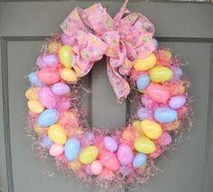 Corona de Pascua para la puerta.