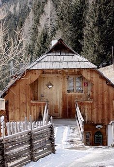 Amazing Shed Plans - House in Alps; Almdorf Seinerzeit / Austria - Now You Can Build ANY Shed In A Weekend Even If You've Zero Woodworking Experience! Start building amazing sheds the easier way with a collection of shed plans! Little Cabin, Little Houses, Cabins In The Woods, House In The Woods, Cabin Homes, Log Homes, Storage Shed Plans, Diy Storage, Winter Cabin