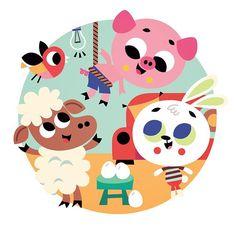Un cochon pendu au plafond! A new book soon, chez Deux Coqs d'or, France! . . . #book #kids #cute #tiagoamerico #childrensbook #animals #characterdesign #kidsdecor #illustration #bookcover