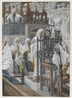 Jesus Unrolls the Book in the Synagogue, by James Tissot
