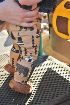 baby leggings organic baby leggings bear and teepee by lucklagoon
