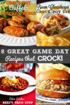 8 Great Game Day Recipes that cRock! #slowcooker #crockpot #RecipesThatCrock