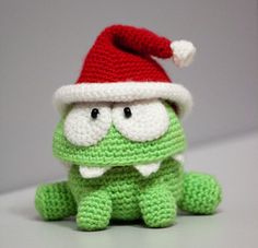 Om Nom (omnom) from Cut The Rope $70  Handmade by ARTdolphin and made to order.