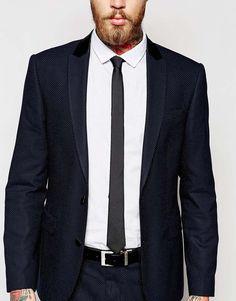 ASOS – Schmale, schwarze Krawatte