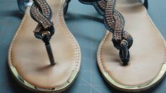 2 Plus Size Sisters in Small Size World How to fix sandals that are too loose or how to refashion for a better fit. I have to buy a bigger size sometimes because my foot spreads but that can lead to the sandal being too loose. However that can be fixed with a little patience and a good thimble.
