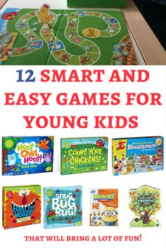 12 smart and easy games that will bring fun to young kids Board games for toddlers and preschoolers: When I looked for the best games for 3 year olds I've discovered many awesome games that can bring a lot of fun! Here are our favorite ones. Family Board Games, Board Games For Kids, Games For Toddlers, Old School Board Games, Toddler Board Games, Childrens Board Games, Game Boards, Indoor Activities For Kids, Preschool Activities