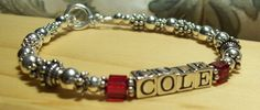 Mother's Bracelet with Childs Name and by TealwaterDesigns on Etsy, $72.00