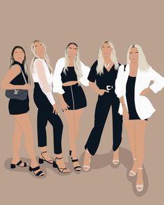 Illustration Art Drawing, Portrait Illustration, Digital Illustration, Graphic Illustration, Cover Wattpad, Grafic Art, Illustration Mignonne, Feminist Art, Feminist Quotes
