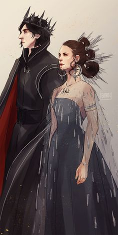 In an AU where Rey accepted Kylo Ren's offer and they reign happily ever after.  Empire Reylo is without a doubt my fav au from the dawn of time and I'm glad I finally made another piece. Here's my...