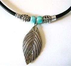 DIY Necklace  : DIY 5-step-leaf-necklace
