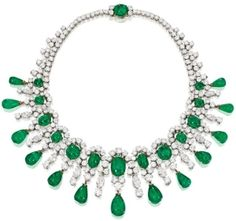 Diamonds in the Library: Brooke Astor's Bulgari emerald and diamond necklace. by meghan