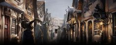 """Arriving at Diagon Alley"" Pottermore Illustration"