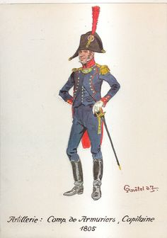 French; Artillery, Company of Armourers, Captain, 1805 by H.Knotel