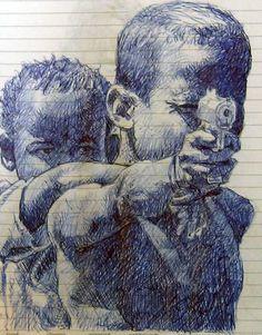 Ball pen drawing
