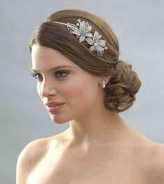 Silver and crystal headband