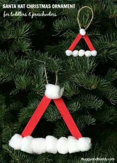 Santa hat lollipop sticks