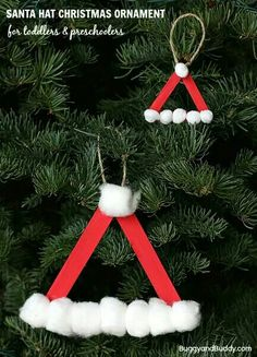 Santa hat lollipop sticks
