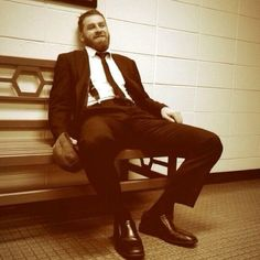 Sami Zayn in a suit with suspenders...and I'm pregnant.