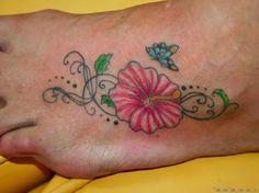 15448 tribal hibiscus flower tattoos