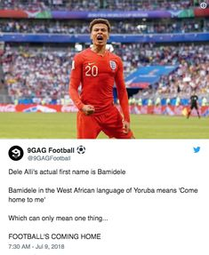 Dele Alli Football Memes, Sports Memes, Dele Alli, England Players, British Football, British Memes, England Football, Sport Quotes, Tottenham Hotspur