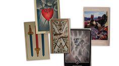 il 3 di spade in 5 mazzi di tarocchi: le carte napoletane, i Rider Waite, I tarocchi dei Visconti, i Tarocchi di Osho i Voyager Tarots