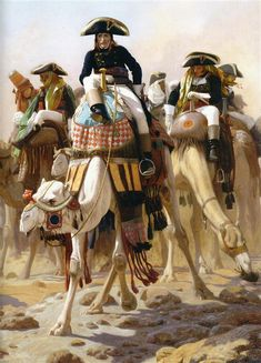 General Bonaparte with his Military Staff in Egypt - Jean-Leon Gerome