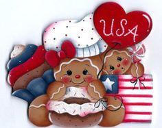 Dressed for Santa Gingerbread Painting di GingerbreadCuties