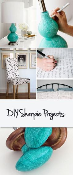 DIY Sharpie Projects • Home decorating projects you can do with just a Sharpie pen and some imagination!