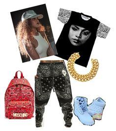 Gangsta Chic by monikaaens on Polyvore featuring polyvore fashion style Moschino A.V. Max clothing