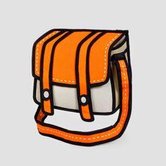 Cartoon bag, Jump From Paper