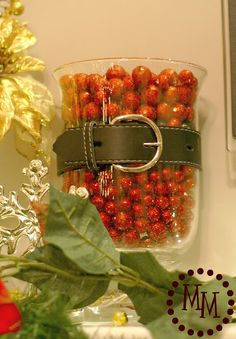 Include Santa's belt as part of your holiday decoration!      Get the vases and accessories you need for your holiday decorations year round at Old Time Pottery!  http://www.oldtimepottery.com/