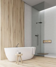 Design, motivation, and DIY tips for remodeling your master bathroom on a tight budget. Awesome DIY home projects, inspiration for your house, and cheap renovationing some ideas for the master bathroom. Bathroom Design Inspiration, Modern Bathroom Design, Bathroom Interior, Home Interior, Minimal Bathroom, Design Ideas, Interior Livingroom, Interior Modern, Interior Ideas