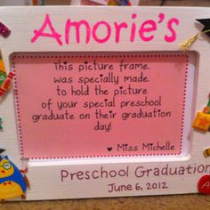 Preschool graduation frame