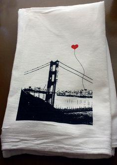 San Francisco Lover's Tea Towel by noteify on Etsy