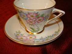 Vintage Bone China Porcelain Tea Cup and by catherinefarrens, $7.99