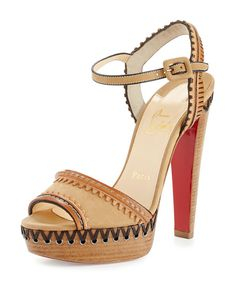 NMS16_X34XV| Christian Louboutins.... Love those Red Bottom Heels!!! These are perfect for that tropical vacation... Hell, they are Louboutins they are perfect for Anything! ~Melissa McInnis~ #Louboutins #Heels #Shoes