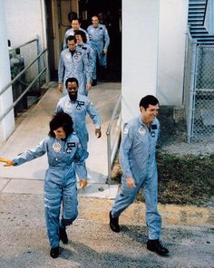 The crew of mission on the way to board the Space Shuttle Challenger on January [[MORE]] Mission type : Satellite deployment Operator : NASA Mission duration: 73 seconds days 34 minutes planned) Distance travelled : 29 kilometres. Space Shuttle Challenger Crew, Challenger Space, Challenger 1986, Christopher Mccandless, Space Shuttle Disasters, Challenger Explosion, Christa Mcauliffe, Rare Historical Photos, Haunting Photos