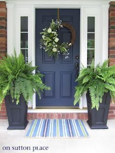 navy front door - love this for the color AND the wording on the picture
