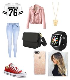 Casual day by zoella11 on Polyvore featuring polyvore fashion style Boohoo Glamorous Converse Apple Gorjana Casetify clothing