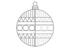 Die Weihnachtskugel: Muster nachspuren groß