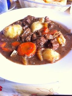 Beef Guinness stew. This is really good! Add only 1 tsp rosemary. 3 lbs of meat is too muuch, use 2lbs. Cut onions into smaller pieces. I used a little more Guinness than they said in the recipe. I added some at the end of cooking to get more beer flavor. Cooking The Amazing: IRISH GUINNESS STEW