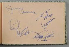 Autograph Book - A vintage autograph book with full set signatures of The Beatles (John Lennon, Paul McCartney, George Harrison & Ringo Starr), The Rolling Stones (Mick Jagger, Brian Jones, Bill Wyman, Keith Richards & Charlie Watts) & others