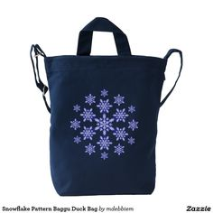Snowflake Pattern Baggu Duck Bag Duck Canvas Bag