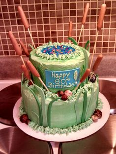 Fishing themed cake created by Alicia @ Phat N Sassy Sweets