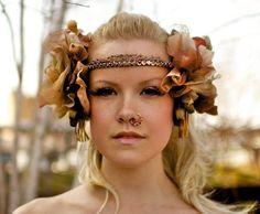 Demeter+Tribal+Headpiece+Vintage+Flowers+and+by+RuffledMagpie,+$370.00