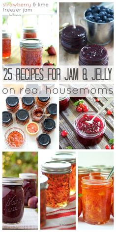 Summer is almost here and all the fresh produce in your local store is just begging to be made into these 25 Recipes for Jam & Jelly! Whether your favorite spread is fruit, citrus, or something a little savory, you'll find a recipe for it here! Jelly Recipes, Jam Recipes, Canning Recipes, Canned Food Storage, Freezer Jam, Fruit Jam, Jam And Jelly, The Fresh, Sauces
