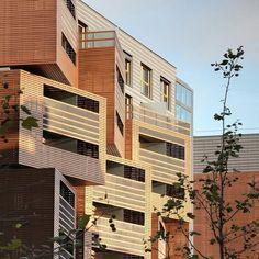 façade moderne d'une résidence universitaire à Paris - design par Ofis architekti
