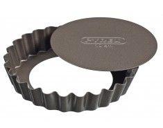 Pyrex asimetriA Set de 4 tartelettes avec fond amovible en métal - 10 cm